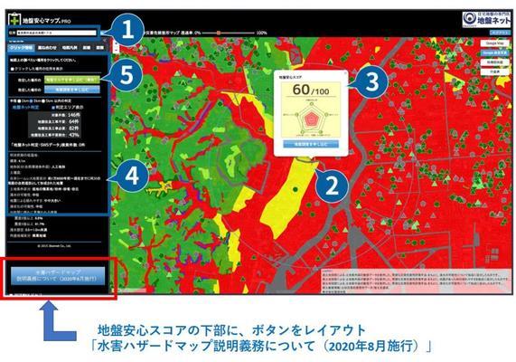 地盤安心マップPRO宅建業法改正に対応!重要事項説明時に利用可能な自治体の水害ハザードマップの新機能の使い方